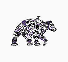 Kodiak - Original Haida, Tlingit Grizzly Bear Art - Purple Unisex T-Shirt