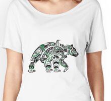 Kodiak - Original Haida, Tlingit Grizzly Bear Art - Green Women's Relaxed Fit T-Shirt