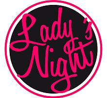 Round ladies night logo by Style-O-Mat