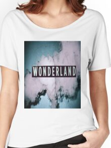 Wonderland Print Women's Relaxed Fit T-Shirt
