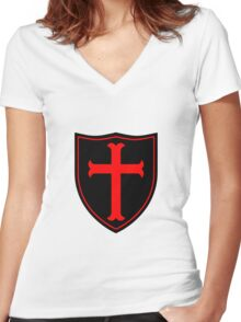 Crusader #1 Women's Fitted V-Neck T-Shirt