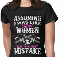 First Mistake - Military/Veteran Women Womens Fitted T-Shirt