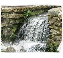 Historic Waterfall At Mote Park Maidstone Kent Poster