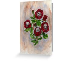 Blood and Roses Greeting Card