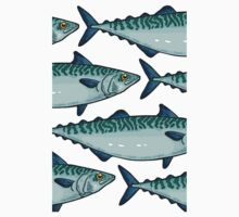 Tasty mackerel pattern Baby Tee
