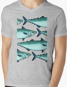 Tasty mackerel pattern Mens V-Neck T-Shirt