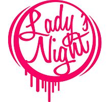 Round ladies night graffiti logo by Style-O-Mat
