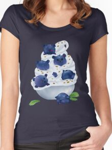 Blue Bearries Women's Fitted Scoop T-Shirt