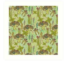 Green vegetables pattern. Art Print