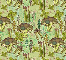 Green vegetables pattern. by smalldrawing