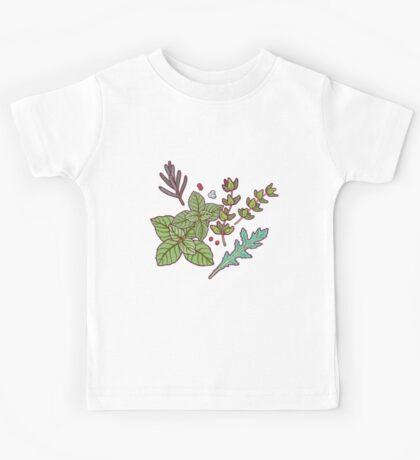 dark herbs pattern Kids Clothes