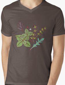 dark herbs pattern Mens V-Neck T-Shirt