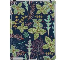 dark herbs pattern iPad Case/Skin