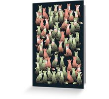 Sleeping foxes Greeting Card