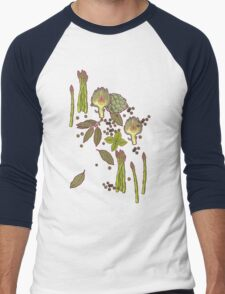 spring asparagus Men's Baseball ¾ T-Shirt