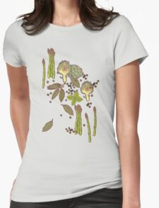 spring asparagus Womens Fitted T-Shirt