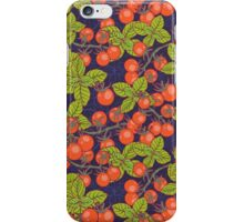 mysterious night in space garden with cherry tomatoes and basil iPhone Case/Skin