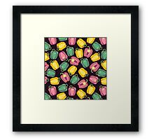 epic bell peppers in space Framed Print