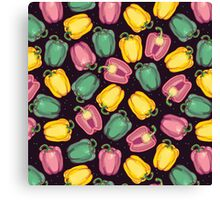 epic bell peppers in space Canvas Print