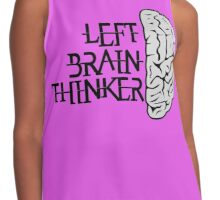 Left Brain Thinker T-Shirt Contrast Tank