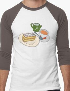 Afternoon Tea and Cake Men's Baseball ¾ T-Shirt