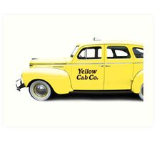 NYC Yellow Taxi Cab Art Print