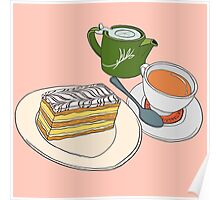 Afternoon Tea and Cake Poster