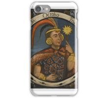 Unknown. Viracocha, Eighth Inca, 1 of 14 Portraits of Inca Kings, mid-18th century (probably) iPhone Case/Skin