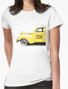 Classic NYC Yellow Cab Square Womens Fitted T-Shirt