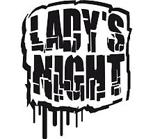 Party music graffiti ladies night by Style-O-Mat