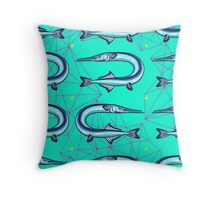 Garfish pattern Throw Pillow