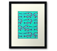 Garfish pattern Framed Print
