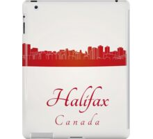 Halifax skyline in red iPad Case/Skin