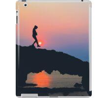 Beach Rock, Sunset on Ly Son, Vietnam iPad Case/Skin