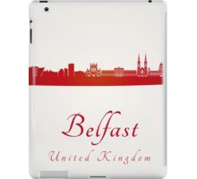 Belfast skyline in red iPad Case/Skin