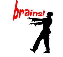 agggh! brains! Photographic Print