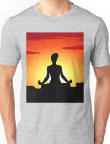 Female Yoga Meditating  Unisex T-Shirt