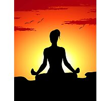 Female Yoga Meditating  Photographic Print