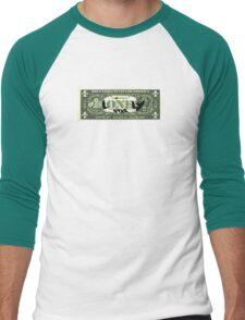 Lonely Star Dollar Bill Men's Baseball ¾ T-Shirt