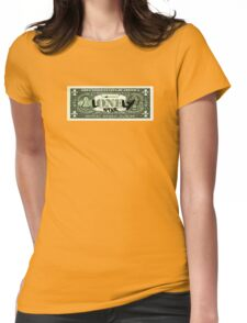 Lonely Star Dollar Bill Womens Fitted T-Shirt