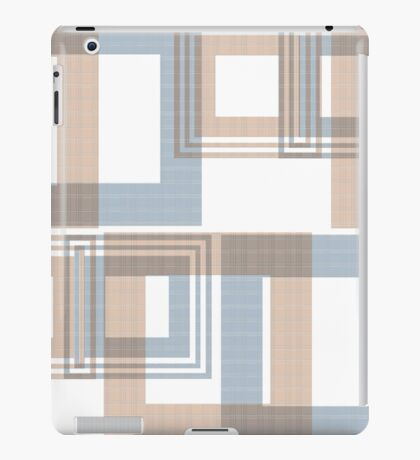 Abstract modern squares seamless pattern texture retro colors background iPad Case/Skin