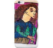 Wind woman iPhone Case/Skin