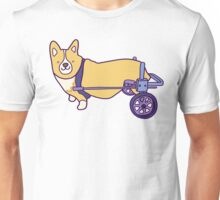 Corgi on wheels  Unisex T-Shirt