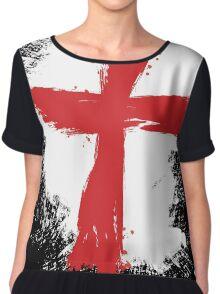 England - Paint Splatter Chiffon Top