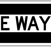 One Way (Right) Sign, USA Sticker