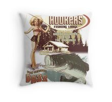 hookers bar and grill Throw Pillow