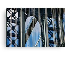Manhattan Bridge Abstract Canvas Print