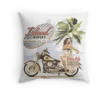 beauty and the hog Throw Pillow