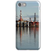 Oil rigs on the Cromarty Firth iPhone Case/Skin