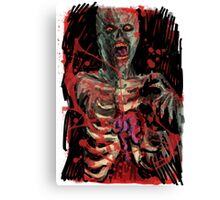 Zombie Brain Eater Canvas Print